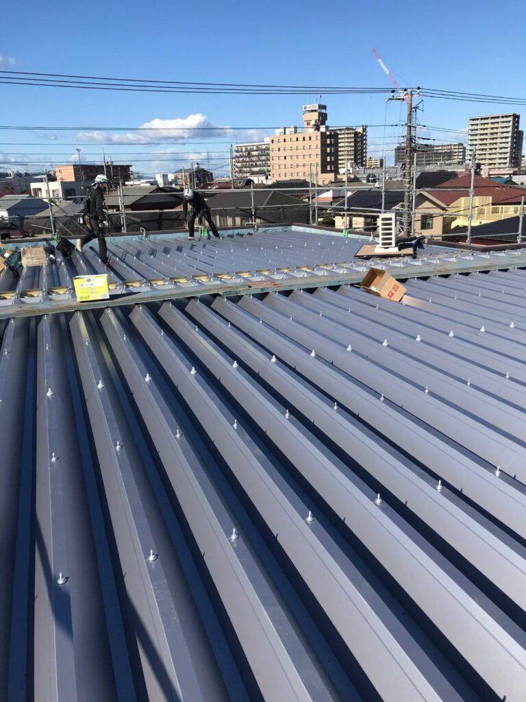 屋根の板金工事を行いました!画像