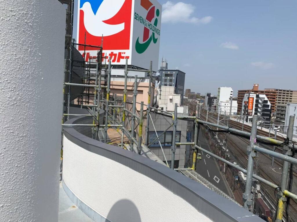 埼玉県 Uビル 笠木工事 老朽化したビルの改修工事画像